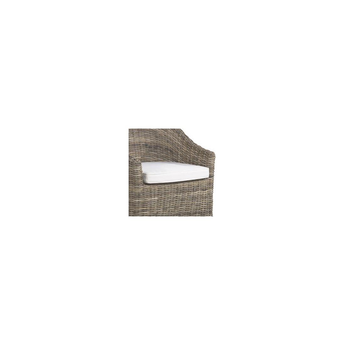 Coussin seul pour bridge ou petit fauteuil en rotin kooboo - Coussin pour fauteuil en rotin ou osier ...