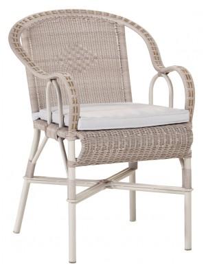 Option coussin gris pour fauteuil grand-père