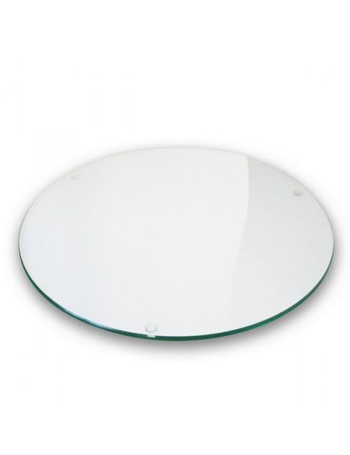 Plateau en verre clair diam tre 60cm - Plateau de verre pour table ...