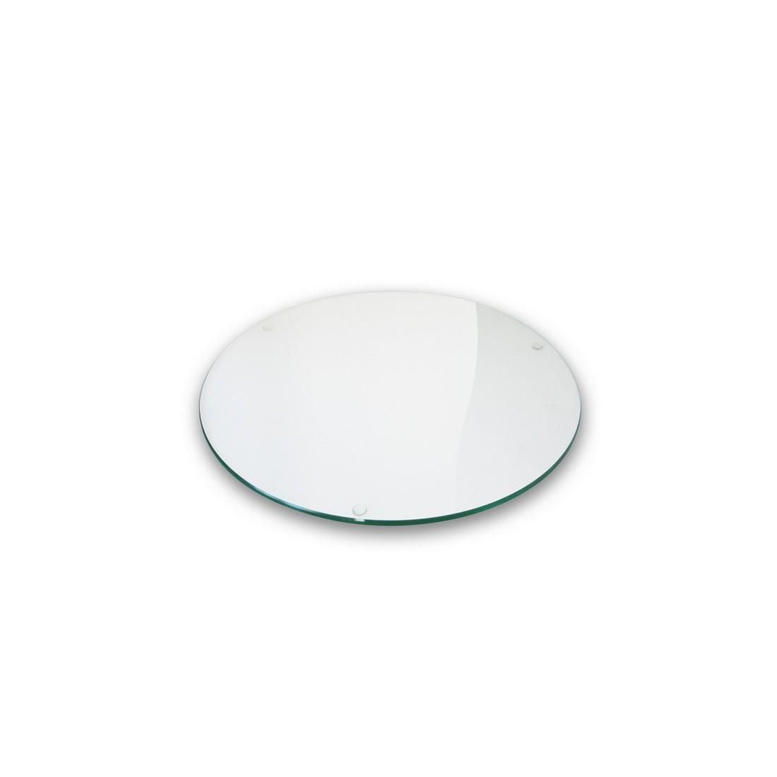 Plateau verre clair diam tre 110cm for Plateau table ronde 110 cm