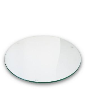 Plateau verre clair ovale 110x180 cm