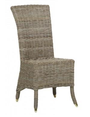 Chaise en rotin Amélie Kooboo gris sans coussin