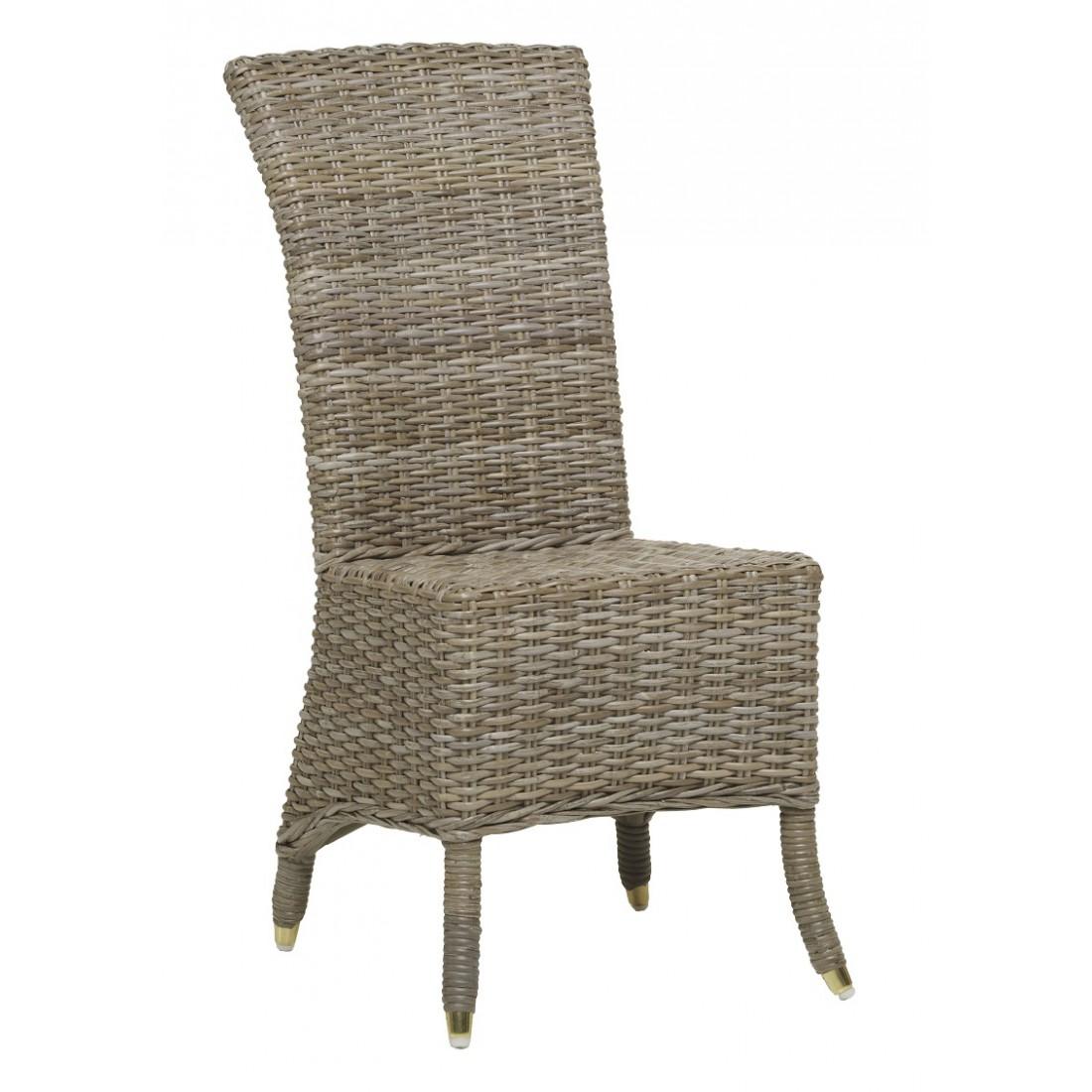 chaise en rotin amlie kooboo gris sans coussin loading zoom - Chaise En Osier