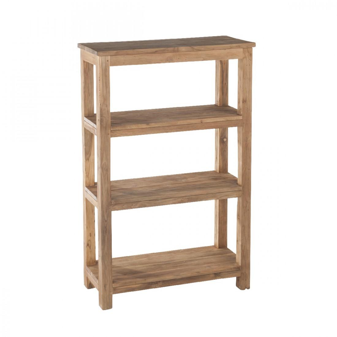 etag re 4 niveaux en teck bross recycl drift. Black Bedroom Furniture Sets. Home Design Ideas
