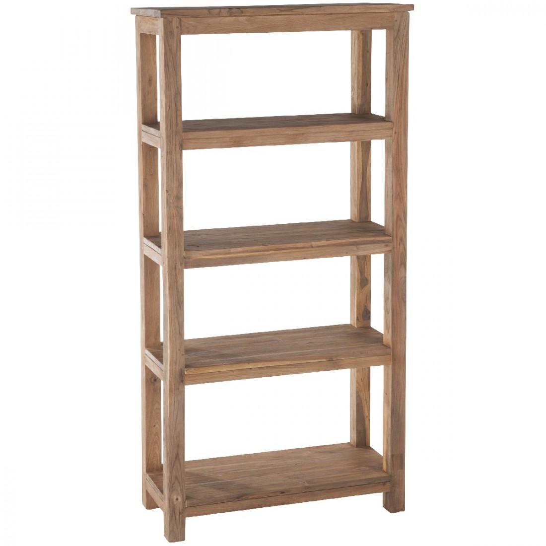 etag re 5 niveaux en teck bross recycl drift. Black Bedroom Furniture Sets. Home Design Ideas