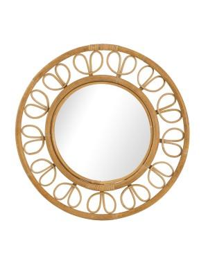Miroir en rotin ruban