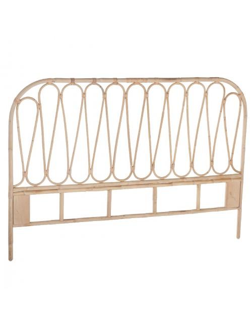 t te de lit en rotin naturel vintage volutes. Black Bedroom Furniture Sets. Home Design Ideas