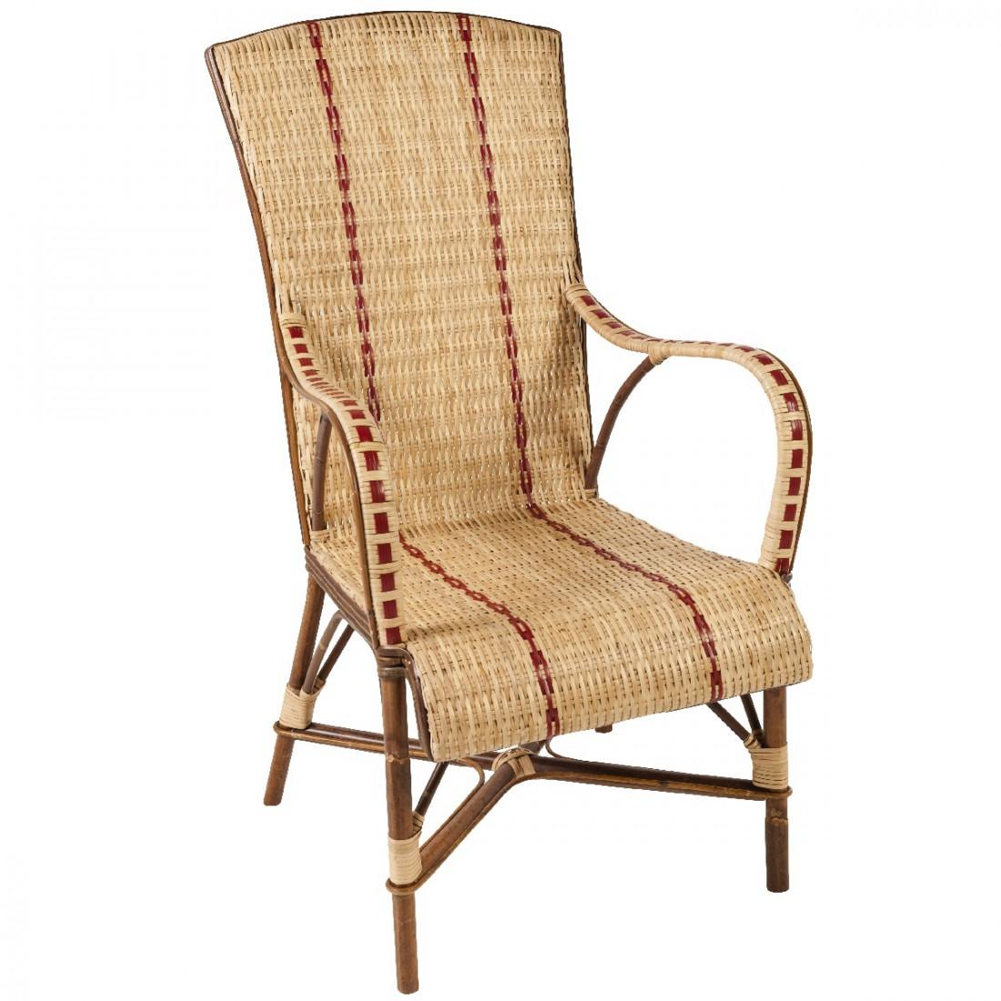 fauteuil en rotin haut dossier bagatelle fauteuil rotin. Black Bedroom Furniture Sets. Home Design Ideas