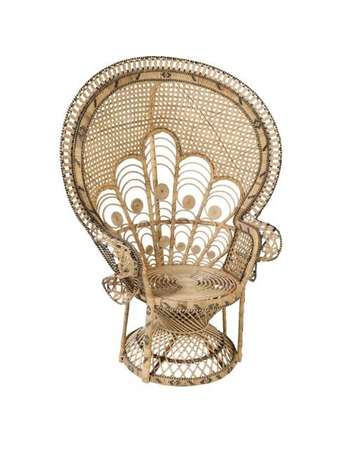 fauteuil emmanuelle en rotin motif paon fauteuil rotin kok maison
