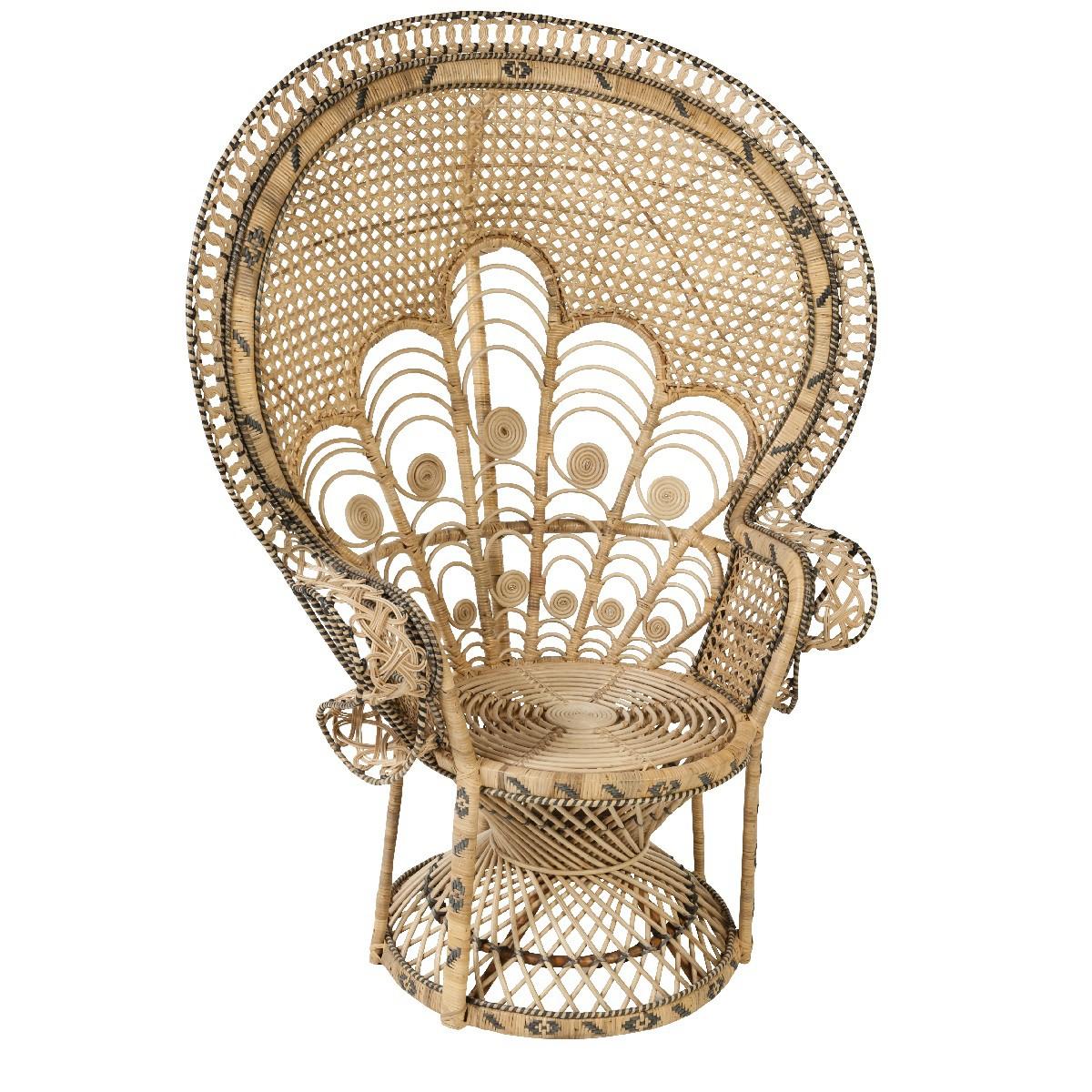 Fauteuil En Rotin Vintage Ou Tressé Indoor KOK MAISON - Fauteuil en osier