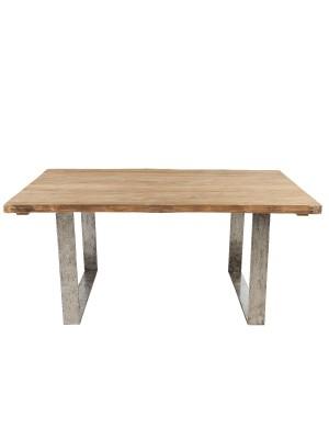 Table teck brossé Vague 170x100 de chez KOK MAISON