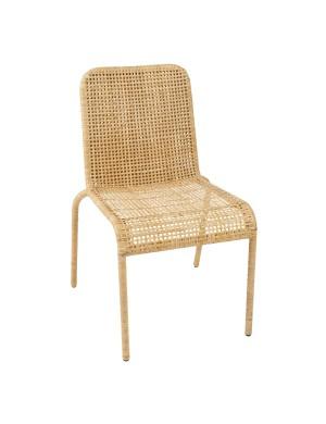Chaise en éclisse de rotin Trinidad