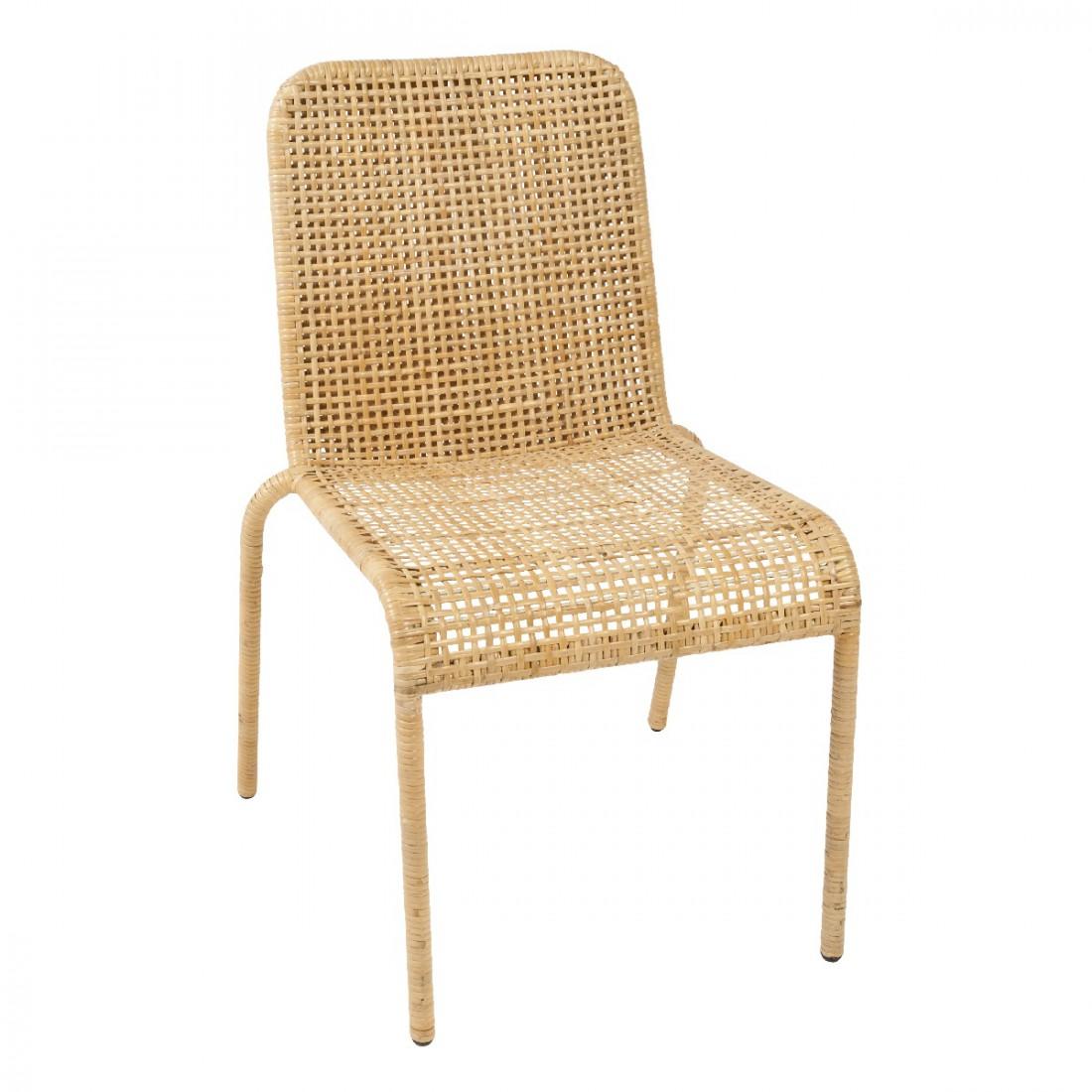 Chaise en clisse de rotin trinidad chaise rotin kok for Chaise et table en rotin