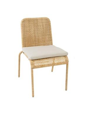 Coussin pour chaise en rotin Trinidad sur sa chaise