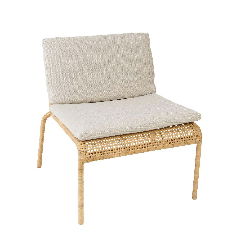 Galette pour chaise en rotin for Coussin pour salon en rotin