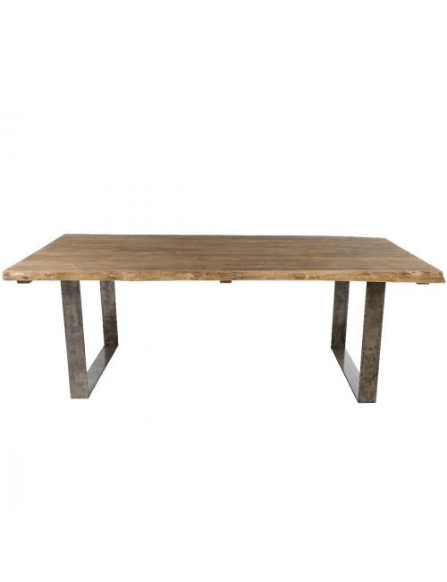 Table teck brossé Vague 220x100 de chez KOK MAISON