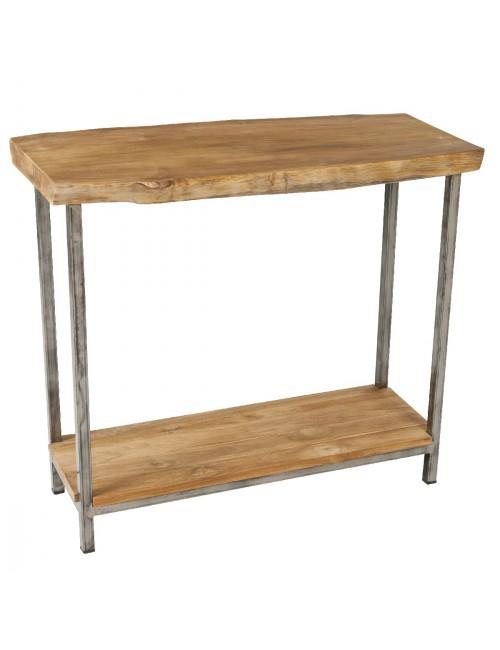 Vague 90x40 teak console table for Bureau 90x40