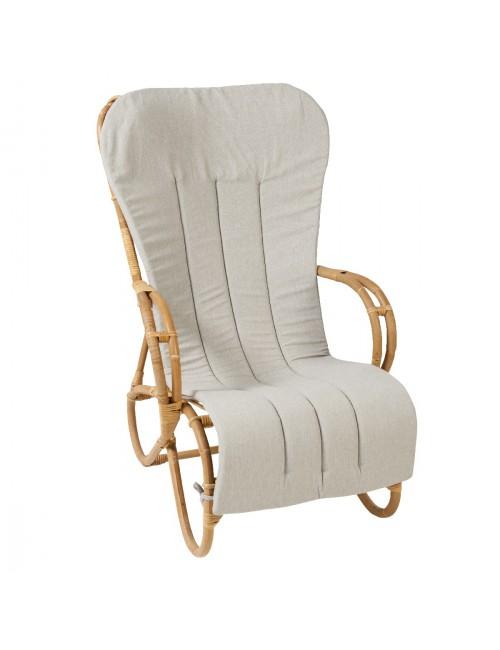 Coussin coloris gris pour fauteuil et rocking Marlène de chez KOK MAISON