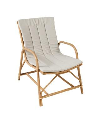 Coussin coloris gris pour fauteuil en rotin Olivier de chez KOK MAISON