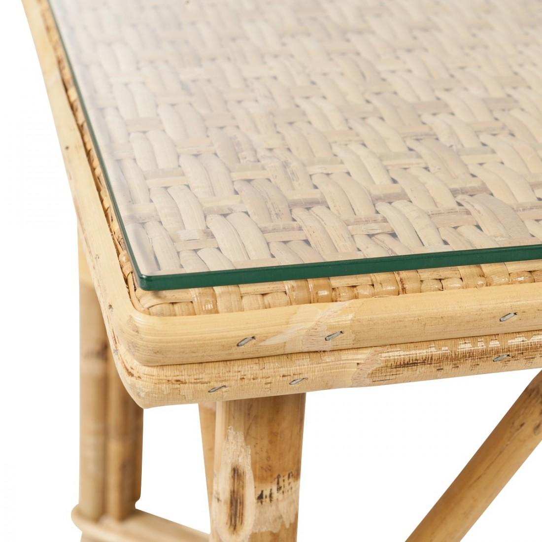 verre pour table basse en rotin grand m re table en rotin. Black Bedroom Furniture Sets. Home Design Ideas