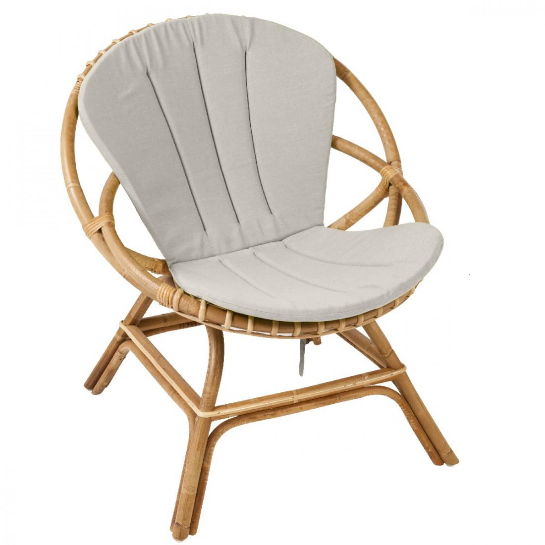 Coussin pour fauteuil Brigitte   fauteuil rotin KOK