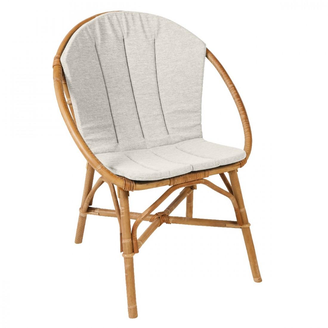 Coussin pour fauteuil bruno fauteuil rotin kok - Pouf en osier ...