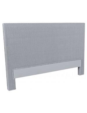 Tête de lit Lloyd Loom Honfleur bleu gris de chez KOK MAISON
