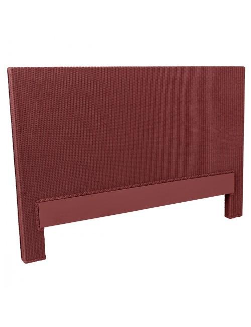 Tête de lit Lloyd Loom Honfleur rouge rubis de chez KOK MAISON