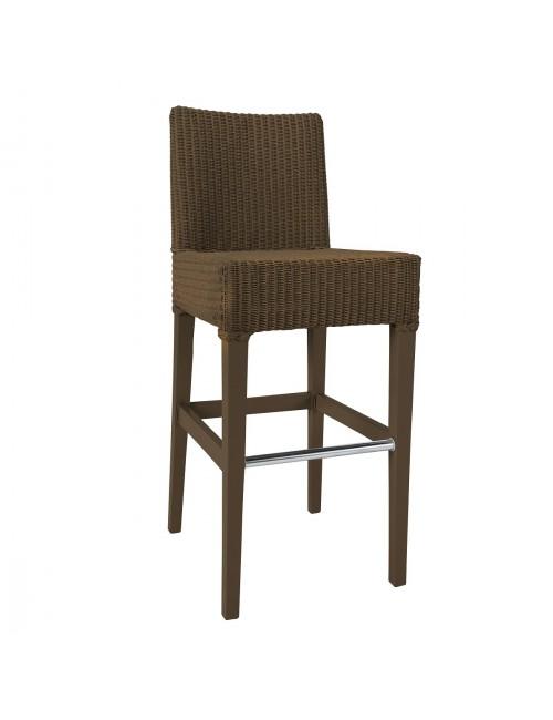 tabouret de bar lloyd loom c sar laqu cuivre. Black Bedroom Furniture Sets. Home Design Ideas