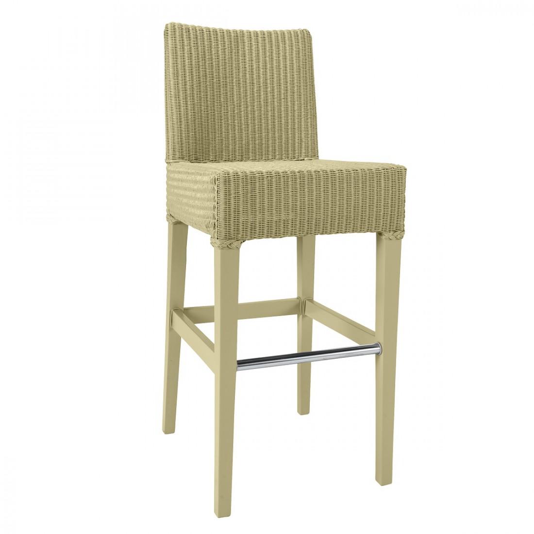 tabouret de bar lloyd loom c sar laqu jaune pass. Black Bedroom Furniture Sets. Home Design Ideas