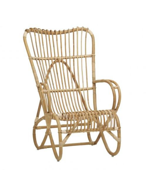 Marlene rattan highback armchair from KOK MAISON