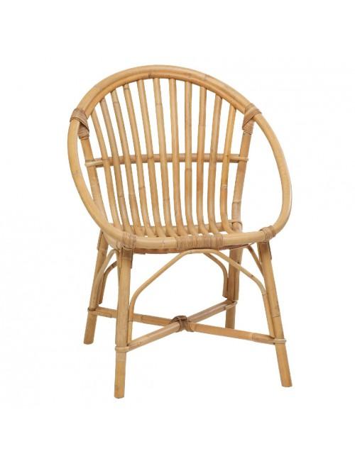 fauteuil en rotin naturel coquille vintage bruno rotin vintage. Black Bedroom Furniture Sets. Home Design Ideas