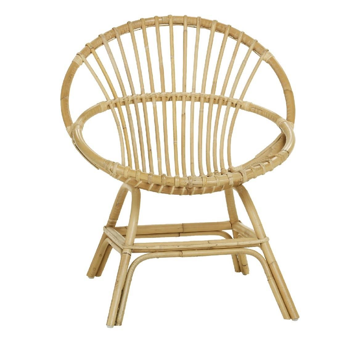 Fauteuil en rotin naturel Brigitte le fauteuil coquille de KOK