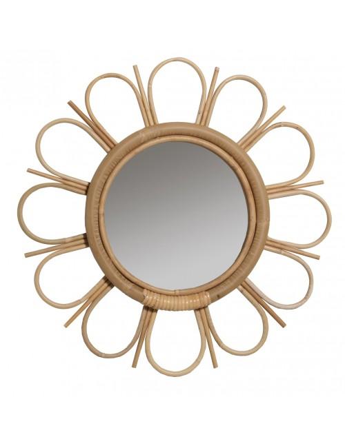 Miroir en rotin naturem Marguerite de chez KOK MAISON