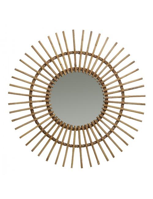 Miroir en rotin naturel Soleil de chez KOK MAISON