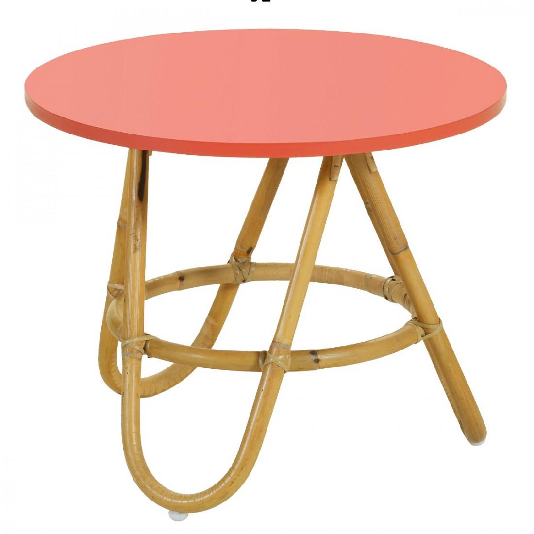 table basse diabolo gm en rotin naturel et plateau rotin naturel. Black Bedroom Furniture Sets. Home Design Ideas