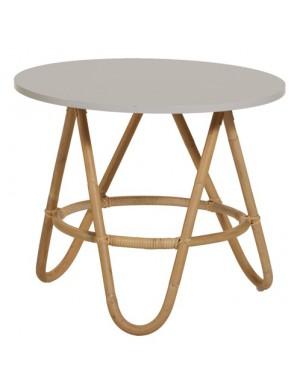 Diabolo rattan coffee table with Nuage colour top