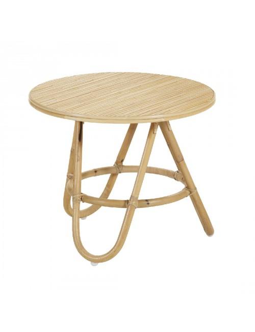 Table basse vintage Diabolo PM structure rotin naturel
