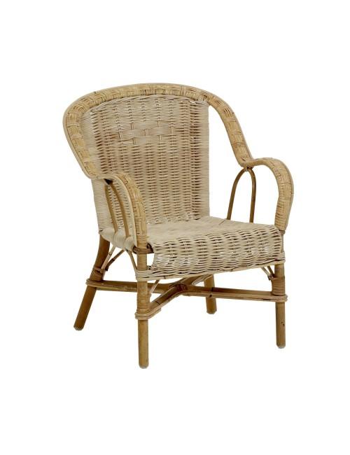 Fauteuil d 39 enfant en rotin naturel authentique fauteuil rotin kok - Fauteuil club conforama ...