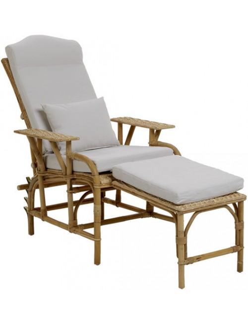 Coussin pour chaise longue Grand-Mère en rotin de chez KOK MAISON