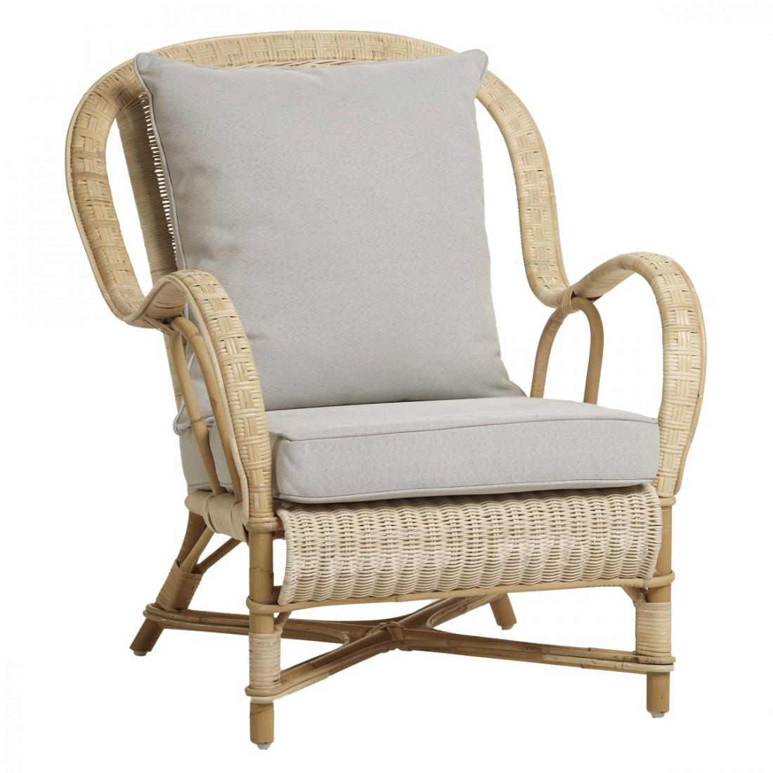fauteuil en rotin naturel esprit grand p re nantucket. Black Bedroom Furniture Sets. Home Design Ideas