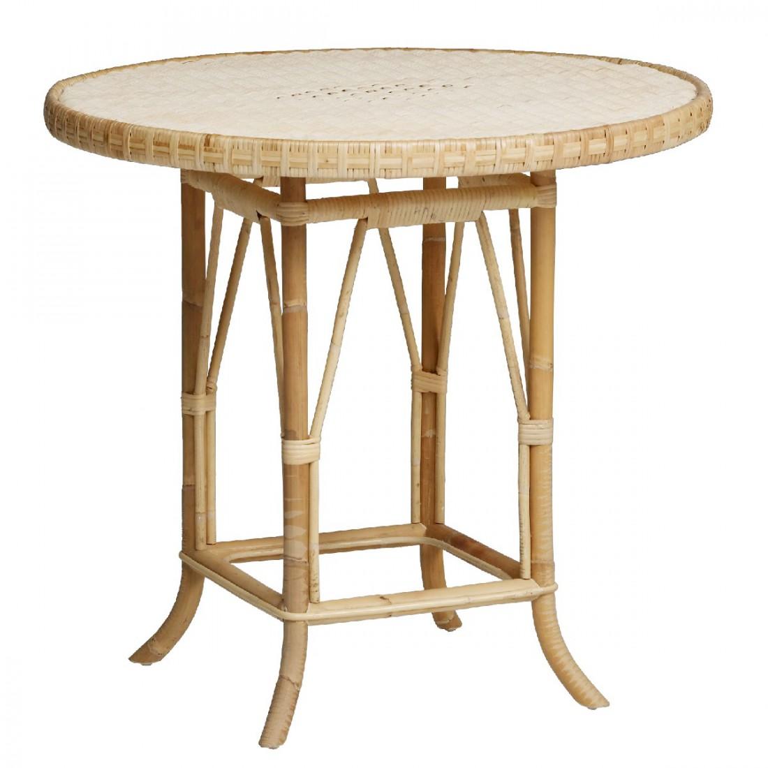 Table en rotin tress naturel eug nie for Table basse rotin