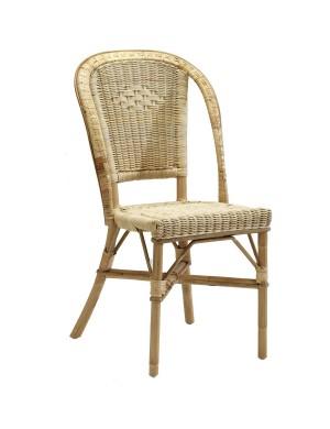 Chaise en rotin naturel tressé Albertine