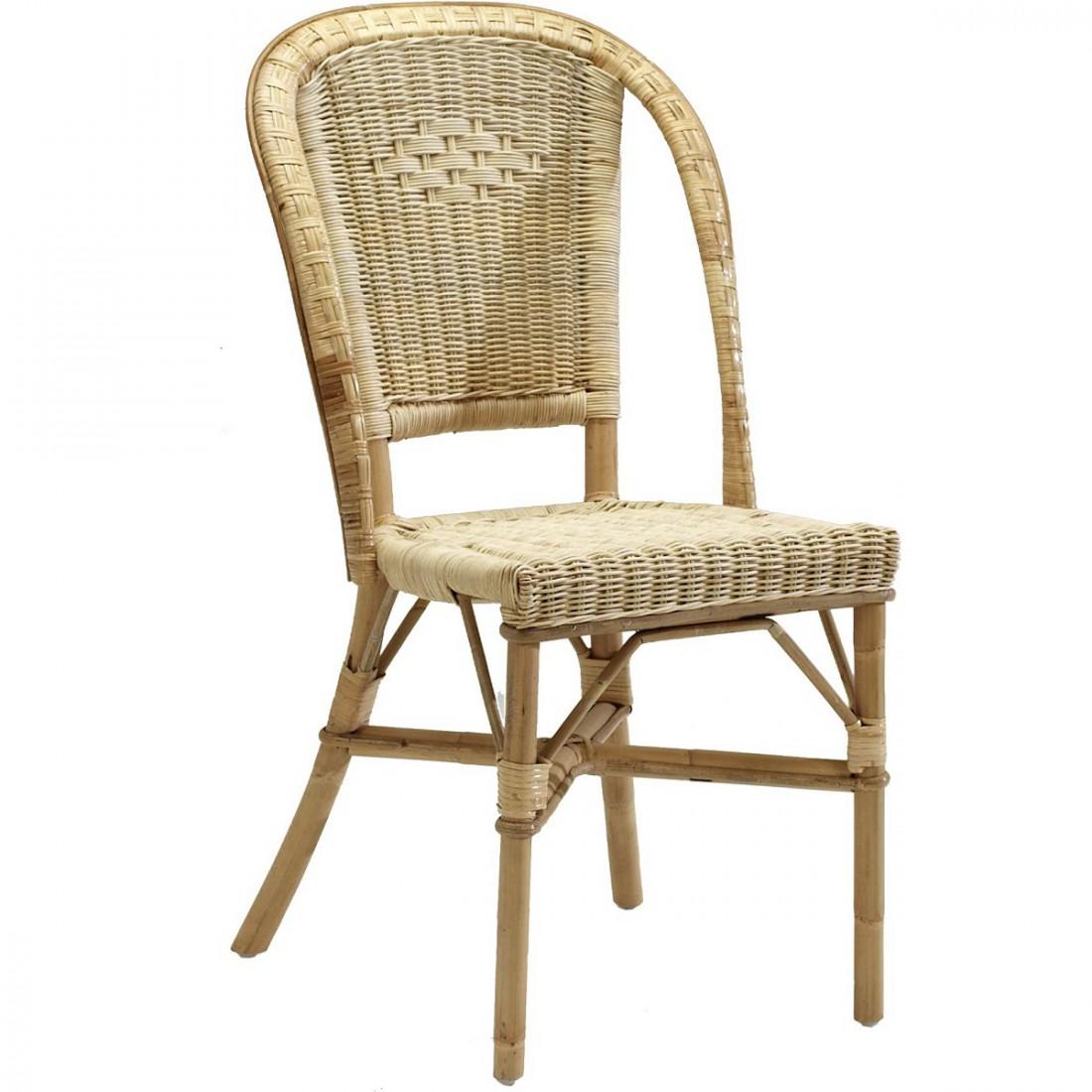 chaise rotin naturel albertine