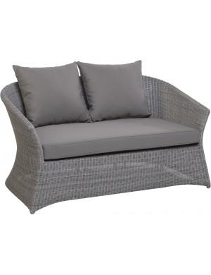Canapé 2 pl jardin résine galet Zenith de chez KOK MAISON