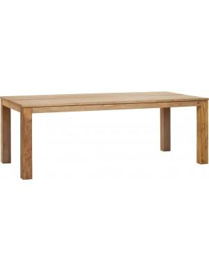 table Drift teck recyclé brossé naturel 220x100cm