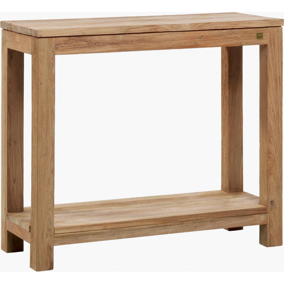 console en teck recycl bross drift petit mod le. Black Bedroom Furniture Sets. Home Design Ideas