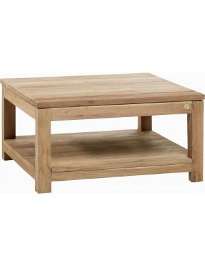 Teak coffee table drift 80x80 for Coussin exterieur 55x55