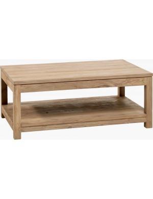 Table basse teck recyclé brossé 100x70