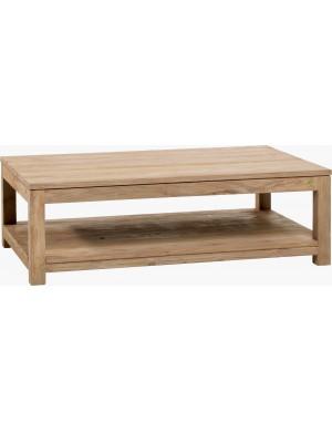 table basse carrée GM Drift teck recyclé brossé naturel